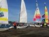 Les catamarans se préparent