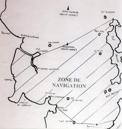 zone de navigation pour la location