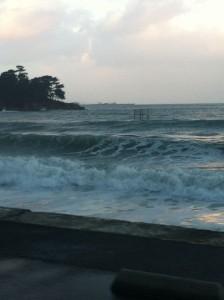 Grande marée de février 2014 - Plage de Sainte-Anne
