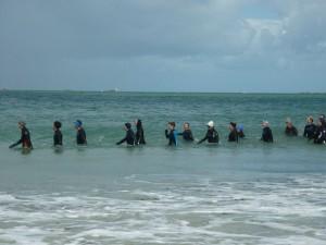 Marche aquatique à la plage de Sainte-Anne