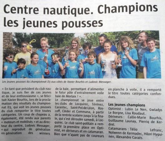 Article Télégramme 26-06-2014