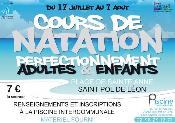 Cours de natation et d 39 aquagym la plage de sainte anne for Piscine cours de natation