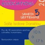 Forum des associations le samedi 5 septembre